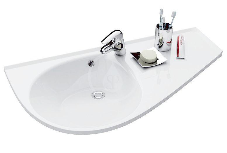 RAVAK Avocado Umyvadlo Comfort 950x530 mm, odkládací plocha vlevo, bílá XJ9L1100000