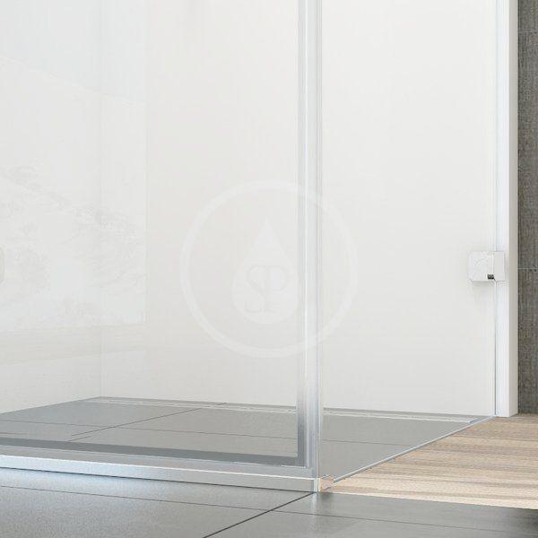 RAVAK - Brilliant Sprchový kout BSDPS-100/80 L, 983-995x783-795 mm, chrom/čiré sklo (0ULA4A00Z1)