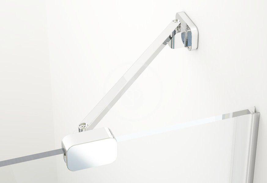 RAVAK - Brilliant Sprchový kout BSDPS-110/80 L, 1083-1095x783-795 mm, chrom/čiré sklo (0ULD4A00Z1)