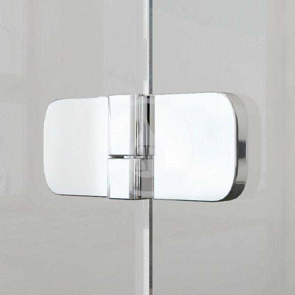 RAVAK - Brilliant Sprchové dveře dvoudílné BSD2-90 R, 890-905 mm, pravé, chrom/čiré sklo (0UP7AA00Z1)