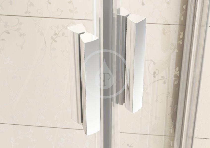 RAVAK - Blix Sprchové dveře dvoudílné BLDP2-100, 970-1010 mm, lesklý hliník/čiré sklo (0PVA0C00Z1)
