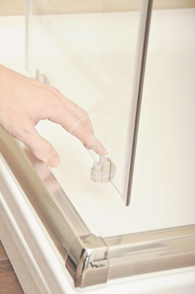 RAVAK - Blix Sprchové dveře BLDP2-110, 1070-1110 mm, lesklý hliník/sklo Grape (0PVD0C00ZG)