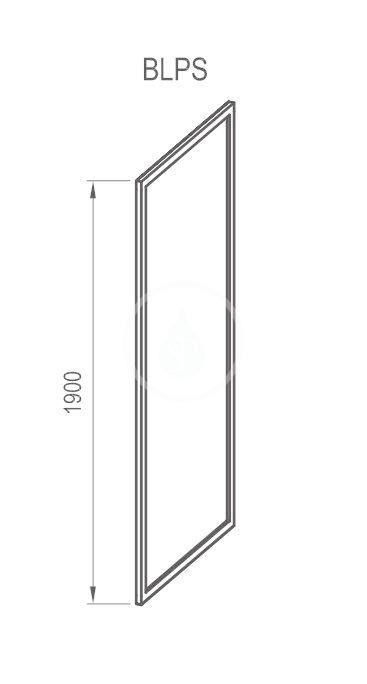 RAVAK - Blix Sprchová stěna BLPS-90, 870-890 mm, lesklý hliník/sklo grape (9BH70C00ZG)