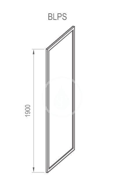 RAVAK - Blix Sprchová stěna BLPS-100, 970-990 mm, lesklý hliník/sklo Grape (9BHA0C00ZG)