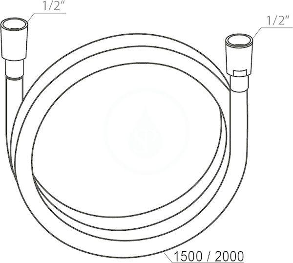 RAVAK - Sprchy Sprchová hadice SilverShine 914.02, délka 2000 mm (X07P339)