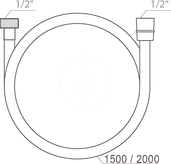 RAVAK - Sprchy Sprchová hadice SatinFlex 913.02, délka 2000 mm, satin (X07P337)