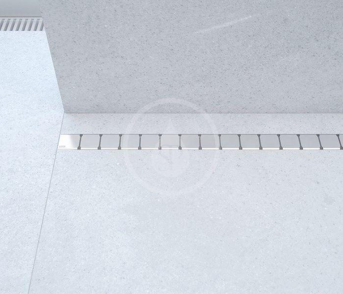RAVAK - 10° Sprchový odtokový žlab 850 mm, do prostoru, nerez (X01576)