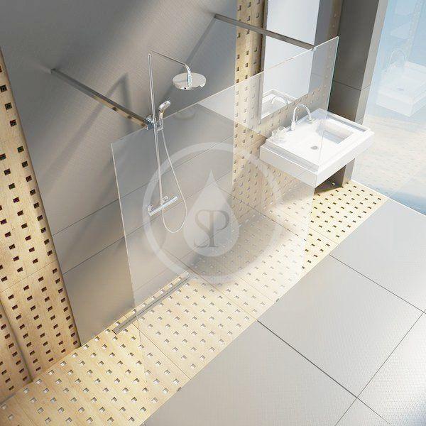 RAVAK - Walk-In Sprchová stěna Walk-in Free 120, 1200x2000 mm, čiré sklo (GW9FG0C00Z1)