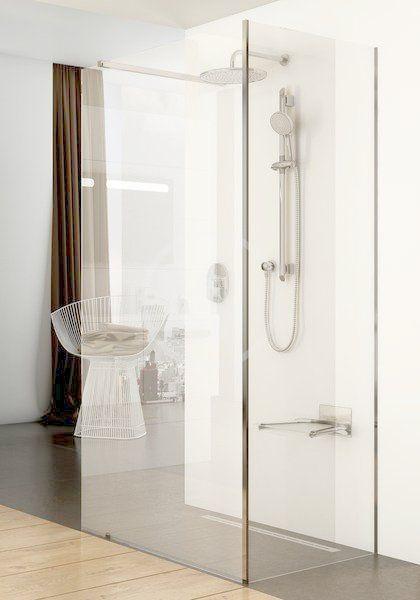 RAVAK - Walk-In Sprchový kout Walk-in Corner 110/80, 1100x800 mm, lesklý hliník/čiré sklo (GW1CD4C00Z1)