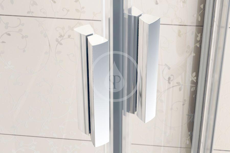 RAVAK - Blix Čtvrtkruhový sprchový kout čtyřdílný BLCP4-90 Sabina, 880-900 mm, satin/sklo Grape (3B270U40ZG)