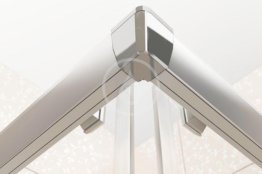 RAVAK - Blix Sprchový kout čtyřdílný BLRV2-90, 880-900 mm, satin/sklo Grape (1LV70U00ZG)