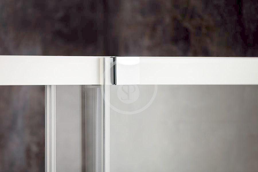 RAVAK - Matrix Sprchový kout třídílný MSDPS-100/80 L, 985-1005x785-805 mm, lesklý hliník/čiré sklo (0WLA4C00Z1)