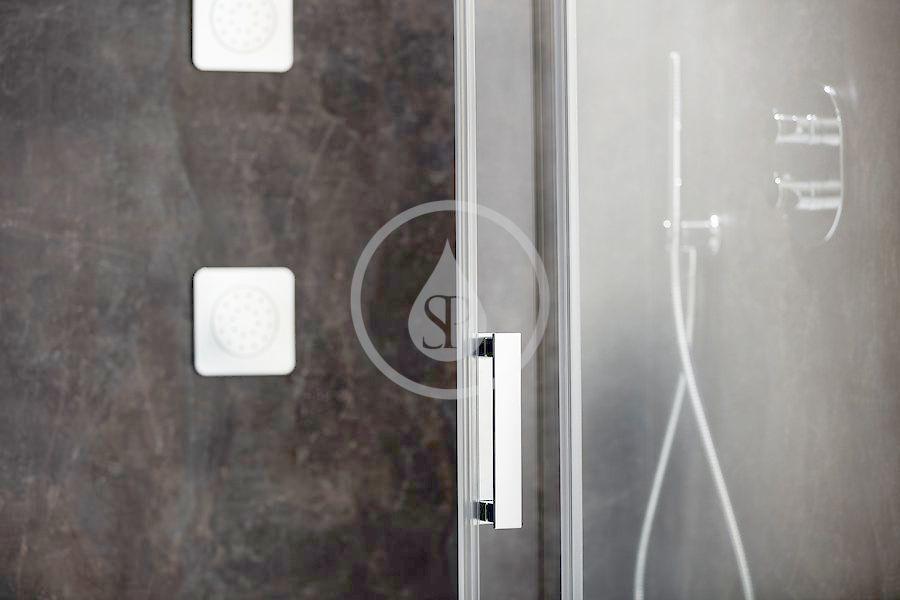 RAVAK - Matrix Sprchový kout třídílný MSDPS-100/80 R, 985-1005x785-805 mm, satin/čiré sklo (0WPA4U00Z1)