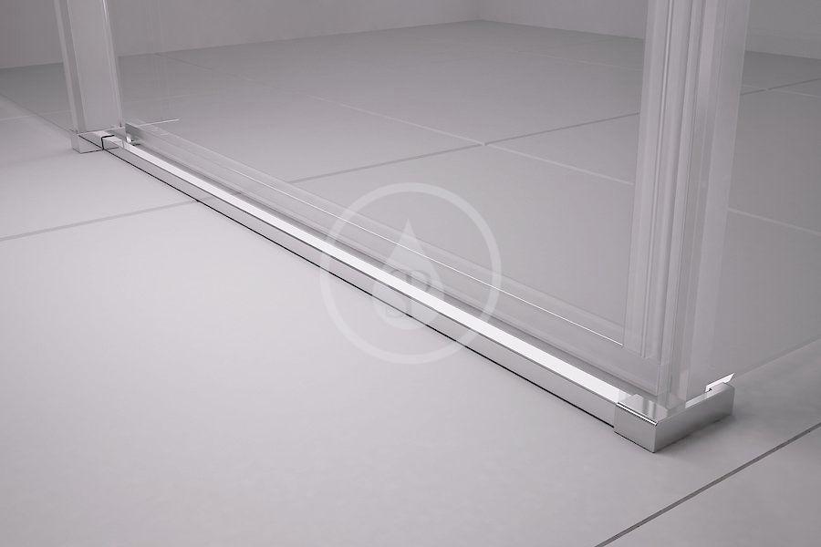 RAVAK - Matrix Sprchový kout třídílný MSDPS-120/90 R, 1185-1205x885-905 mm, lesklý hliník/čiré sklo (0WPG7C00Z1)