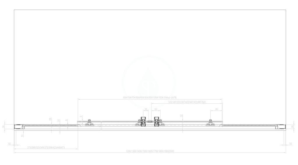 RAVAK - 10° Sprchové dveře čtyřdílné 10DP4-200, 2000 mm, lesklý nerez/sklo (0ZKK0C00Z1)