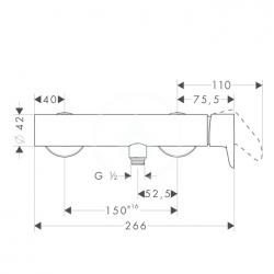 AXOR - Citterio M Páková sprchová baterie, chrom (34620000), fotografie 4/3