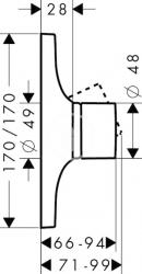 AXOR - Massaud Sprchová baterie pod omítku, chrom (18655000), fotografie 6/4