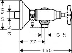 AXOR - Montreux Sprchová baterie se dvěma kohouty, chrom (16560000), fotografie 2/2