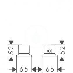 AXOR - Massaud Termostatická 2-otvorová baterie, chrom (18480000), fotografie 2/1