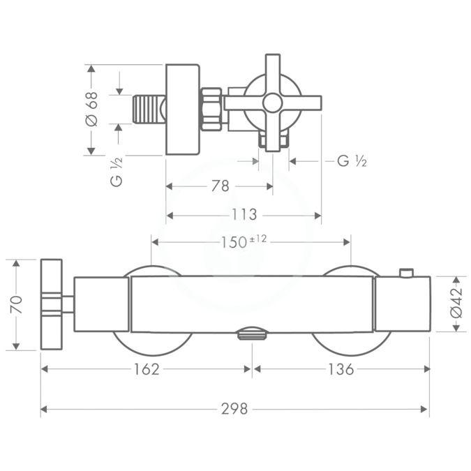 AXOR - Citterio Sprchová termostatická baterie, chrom (39365000)