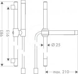 Sprchový program Sprchová souprava Axor Starck, chrom (27980000), fotografie 2/4