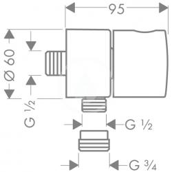 AXOR - Sprchový program Fixfit Stop, uzavírací ventil, chrom (38882000), fotografie 2/1
