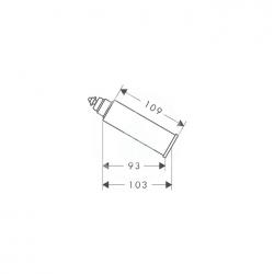 AXOR - Příslušenství Prodloužení výtoku 60 mm, chrom (10981000), fotografie 2/1