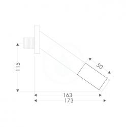 AXOR - Starck Prodloužení pro vanový výtok, chrom (10495000), fotografie 2/1