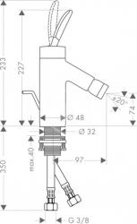 AXOR - Starck Classic Páková bidetová baterie, chrom (10200000), fotografie 4/5