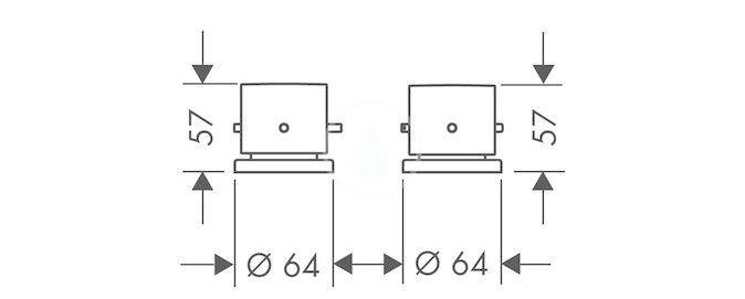 AXOR - Starck Termostatická 2-otvorová baterie, chrom (10480000)