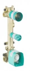 AXOR - Montážní tělesa Těleso termostatového modulu pro 2 spotřebiče, chrom (36701180)