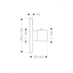 AXOR - Citterio M Termostatická baterie pod omítku, chrom (34715000), fotografie 2/3