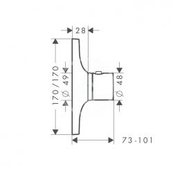 AXOR - Massaud Highflow termostatická baterie pod omítku, chrom (18741000), fotografie 4/3