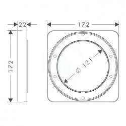 AXOR - Příslušenství Prodlužovací rozeta 172 x 172 mm (98860000), fotografie 2/1