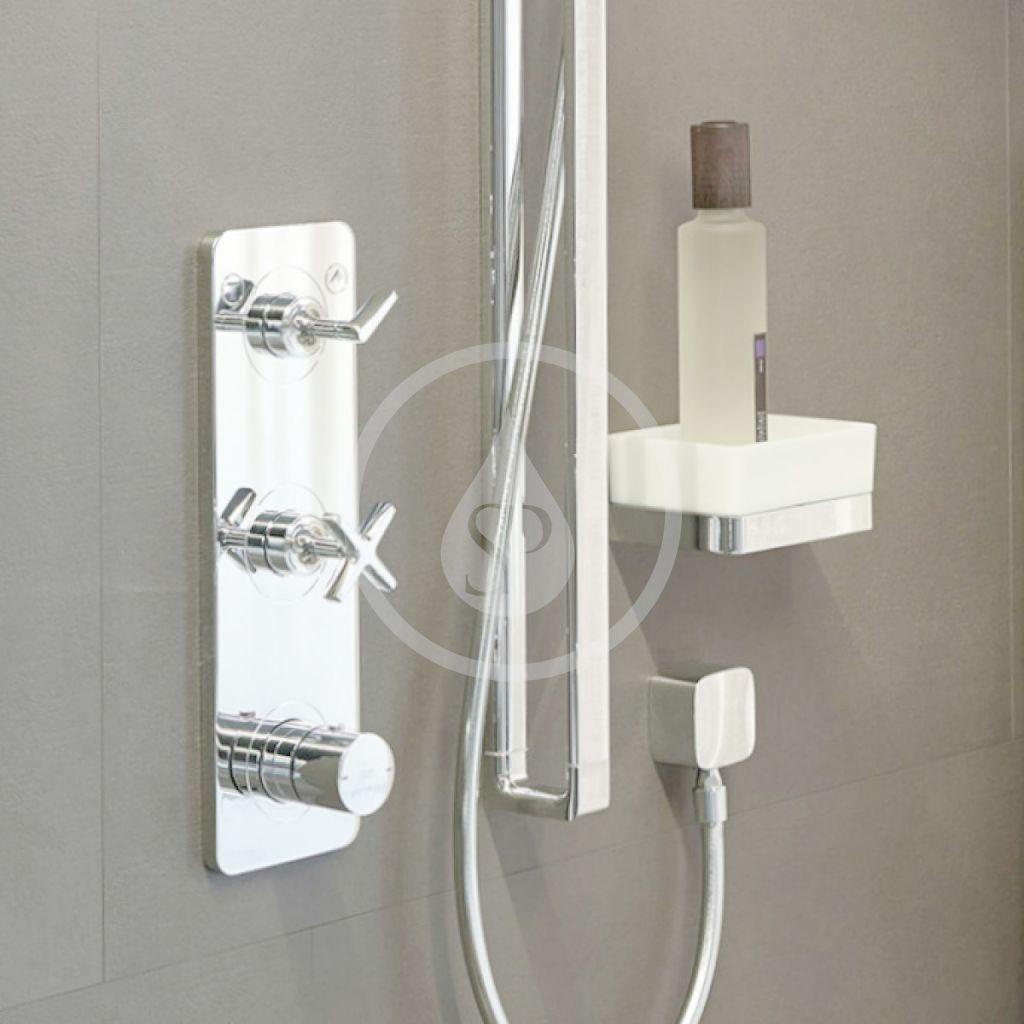 AXOR - Citterio E Vrchní sada termostatického modulu pro 2 spotřebiče, chrom (36703000)