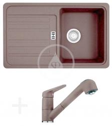 FRANKE - Sety Kuchyňský set G20, granitový dřez EFG 614-78, tmavě hnědá + baterie FC 9547.070, tmavě hnědá (114.0252.888)