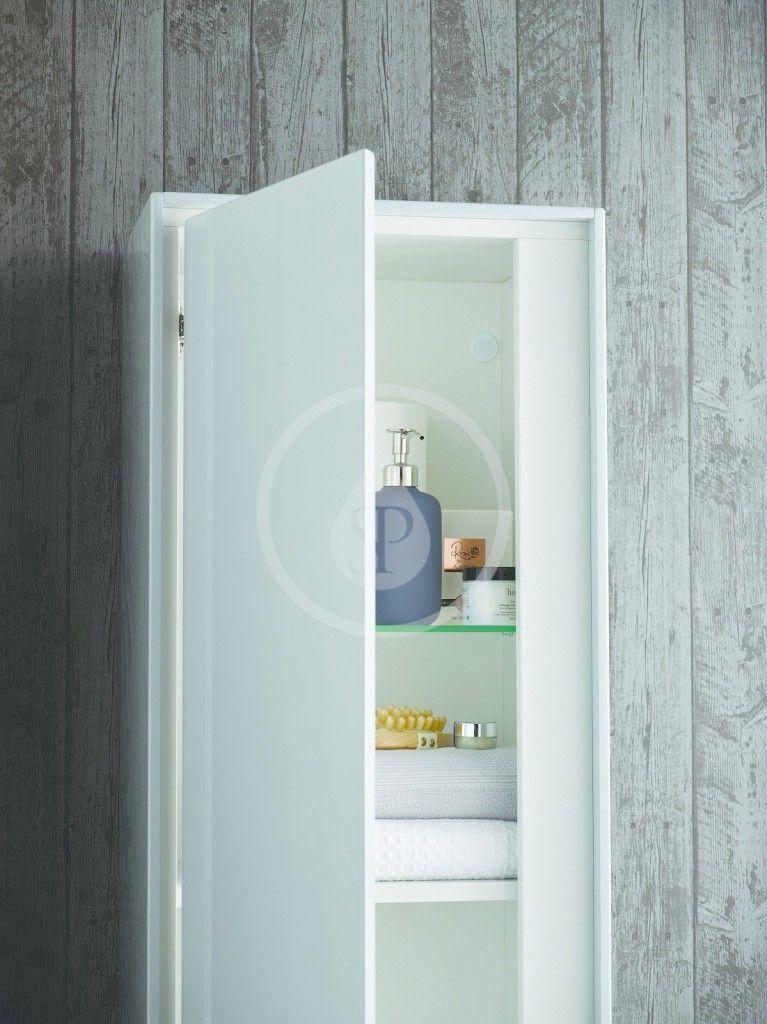 IDEAL STANDARD - Connect Air Vysoká skříňka 400x300x1200 mm, leskle světle šedá/matná bílá (E0834EQ)