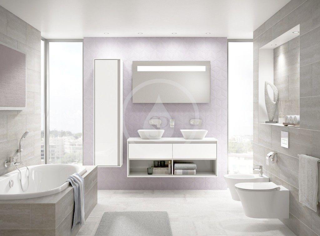 IDEAL STANDARD - Connect Air Skříňka pod dvojumyvadlo, 1300x440x517 mm, dekor šedý dub/bílá mat (E0831PS)