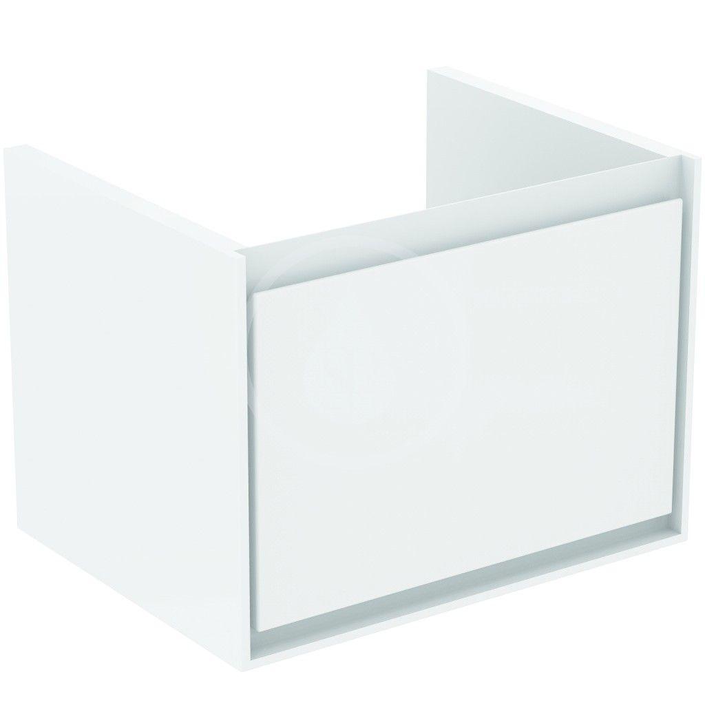 IDEAL STANDARD - Connect Air Skříňka pod umyvadlo Cube 600 mm, 530x409x400 mm, lesklá bílá/světlá šedá mat (E0846KN)