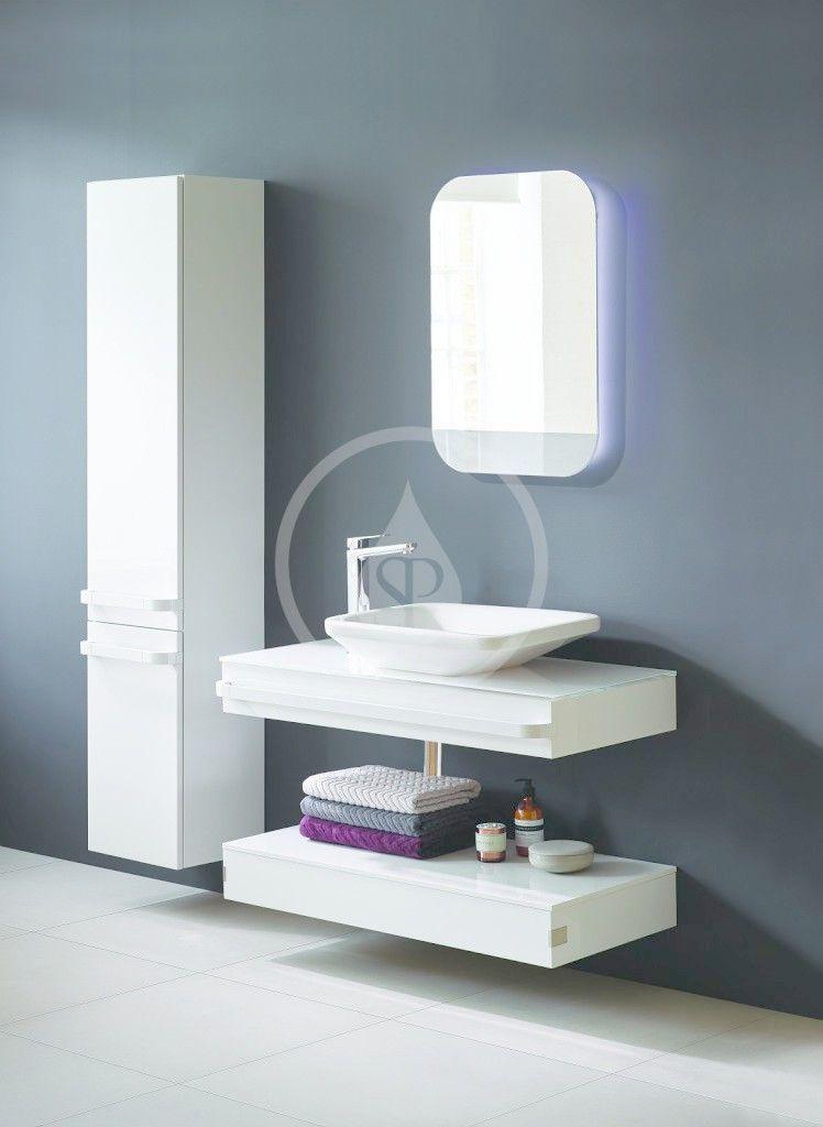 IDEAL STANDARD - Tonic II Vysoká skříňka 350x300x1735 mm, pravá, světle šedý dub (R4315FE)
