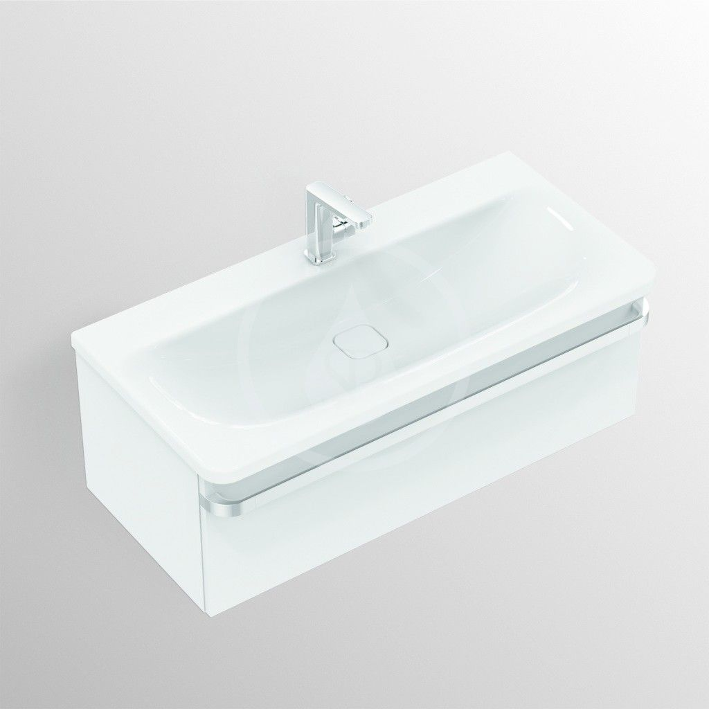 IDEAL STANDARD - Tonic II Skříňka pod umyvadlo, 1000x440x350 mm, lesklá světle šedá (R4304FA)