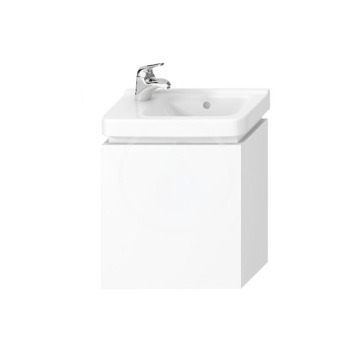 JIKA Cubito Skříňka pod umyvadlo 440x480 mm, výklopná dvířka, bílá H40J4201005001