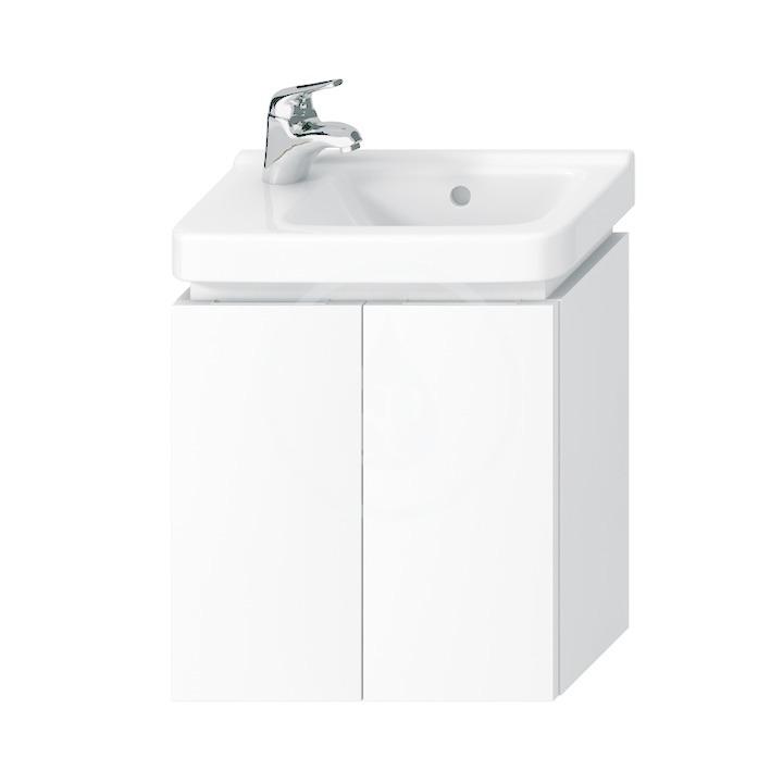 JIKA Cubito Skříňka pod umyvadlo 440x480 mm, 2 dvířka, bílá H40J4202005001
