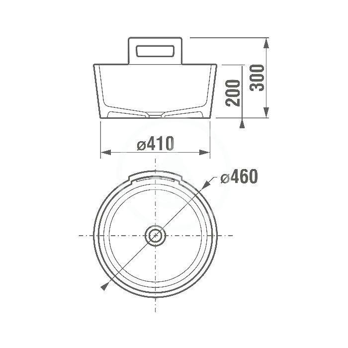 JIKA - Art Umyvadlo na desku, průměr 460 mm, bílá (H8101410001041)