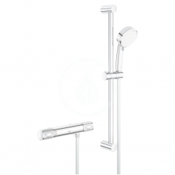 GROHE - Grohtherm 1000 Performance Sprchový set s termostatem na zeď, 2 proudy, rozteč 120 mm, chrom (34786000)