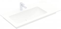 VILLEROY & BOCH - Venticello Umyvadlo nábytkové 1000x500 mm, bez přepadu, otvor pro baterii, CeramicPlus, alpská bílá (4134L2R1)