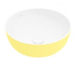 VILLEROY & BOCH - Artis Umyvadlo na desku, průměr 430 mm, Lemon (417943BCT4)