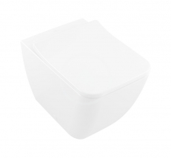 VILLEROY & BOCH - Venticello Stojící WC, Vario odpad, DirectFlush, CeramicPlus, Stone White (4613R0RW)