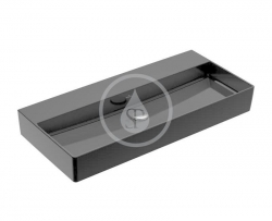 VILLEROY & BOCH - Memento 2.0 Umyvadlo nábytkové 1000x470 mm, bez přepadu, bez otvoru pro baterii, CeramicPlus, Glossy Black (4A221FS0)