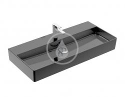 VILLEROY & BOCH - Memento 2.0 Umyvadlo nábytkové 1000x470 mm, s přepadem, otvor pro baterii, CeramicPlus, Glossy Black (4A221GS0)